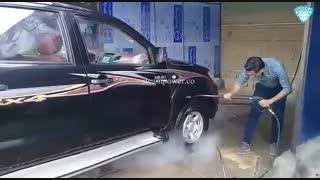 شستن ماشین با بخار شستشو وانت سه کابین با بخار بخارشویی وانت کارواش بخار وانت