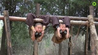 تمرینات سخت کودکان کونگ فو کار معبد شاولین