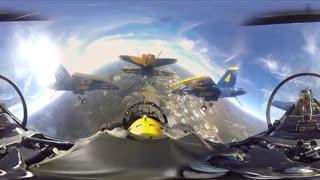 مانور هوایی جت های Blue Angels