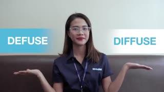 """آموزش نکات انگلیسی - کلمات مشابه قسمت هفدهم :  """"Defuse"""" and """"Diffuse"""""""