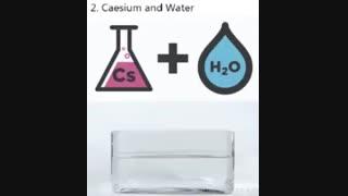 افزودن سزیم به آب