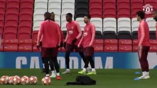 آخرین تمرین بارسلونا پیش از دیدار با منچستر یونایتد