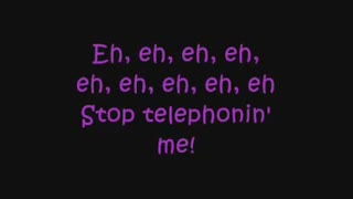 Lady Gaga ft. Beyonce - Telephone - Lyrics on screen (لیدی گاگا و بیانسه)