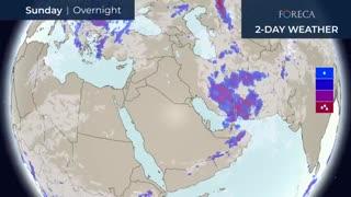 سیستم بارشزا طی روزهای  12 تا 14 آپریل 2019