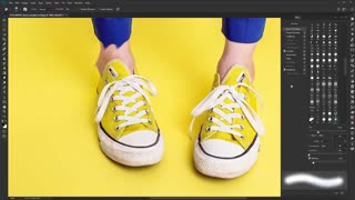 آموزش فتوشاپ ابزار جابجایی رنگ فتوشاپ smudge-tool