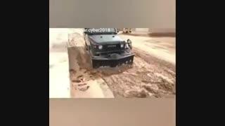 خودروهای یگان ویژه در سیل لرستان