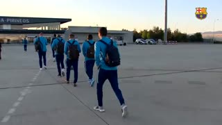 سفر تیم بارسلونا برای دیدار با هوئسکا