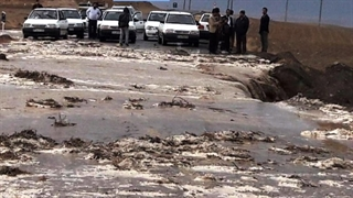 بارش باران و سیلاب در شهرستان کلات استان خراسان رضوی