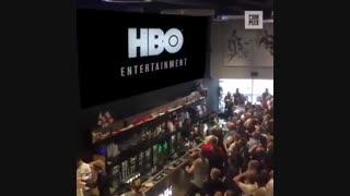 تجمع و انتظار دیدنی مردم برای شروع فصل هشتم سریال «بازی تاج و تخت» Game of Thrones