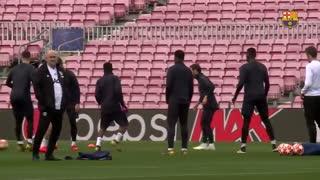 آخرین تمرین منچستر یونایتد پیش از دیدار با بارسلونا