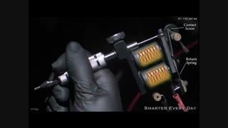 دستگاه تاتو بدن - فیلم کار کردن ماشین خالکوبی بدن - زیبایی سنتر