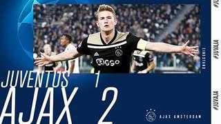 خلاصه دیدار یوونتوس 1_2 آژاکس ( یکچهارم نهایی لیگ قهرمانان اروپا )