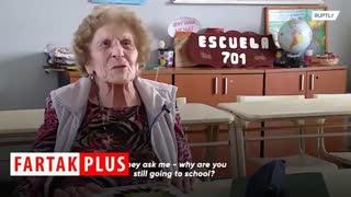 ادامه تحصیل زن آرژانتینی در سن ۹۹ سالگی!