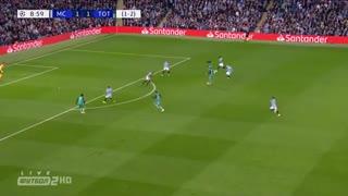 گل دوم تاتنهام به منچسترسیتی توسط سون هیونگ مین در دقیقه ۱۰ (یکچهارم پایانی لیگ قهرمانان اروپا)