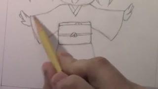 آموزش کشیدن چیبی با کیمونوی متغیر تقدیمی