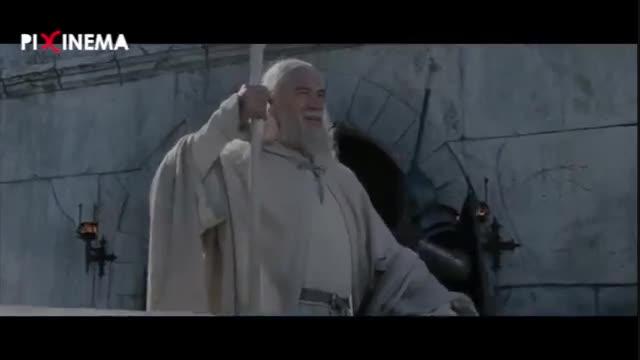 فیلم ارباب حلقهها بازگشت پادشاه سکانس فعال کردن آتشگاه گاندور