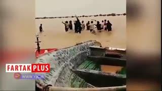 شادی مردم سیستان و بلوچستان از ورود سیلاب + فیلم