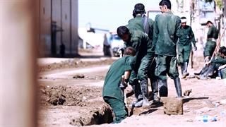 حمله تروریستها به پلدختر بعد از سیل