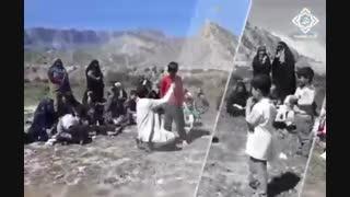 جشن نیمه شعبان گروه مهدا در مناطق سیل زده لرستان