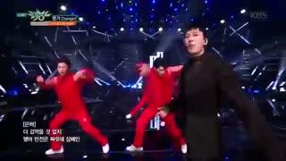 اجرا بسیار زیبا آهنگ Danger از دونگهه و اینهیوک D&E  گروه Super Junior در Music Bank