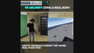 تیراندازی با تیروکمان واقعی در واقعیت مجازی