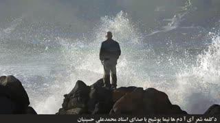 دکلمه شعر آی آدم ها نیما یوشیج با صدای استاد محمدعلی حسینیان