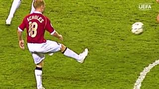 لحظات خاطرهانگیز پل اسکولز در لیگ قهرمانان اروپا