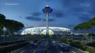 زیباترین فرودگاه جهان با هزینه ساخت 1.5 میلیارد دلار در سنگاپور