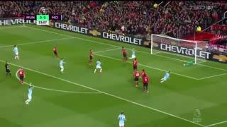 خلاصه دیدار منچستر یونایتد 0_2 منچسترسیتی (معوقه هفته 31 لیگ برتر انگلیس)