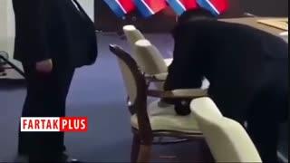 میز کردن صندلی رهبر کره شمالی پیش از دیدار با پوتین
