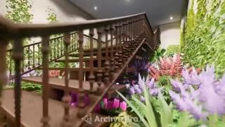انیمیشن معماری، لومیون - فضا سازی ورودی آرایشگاه - آرک ویز پرو