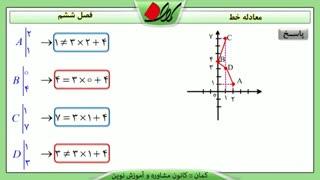 ریاضی نهم - فصل ششم - معادله خط