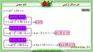 ریاضی دهم - فصل 4 - مسائل ترکیبی تابع سهمی - تمرین 5