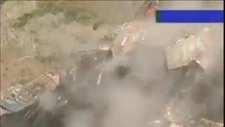لحظه تخریب خانه ها براثر رانش زمین در بولیوی