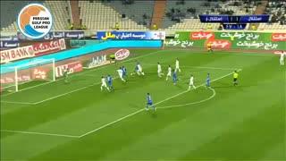 گل دوم استقلال به استقلال خوزستان توسط رضا کریمی