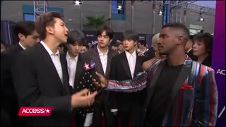 BTS Show Off Impressive Dance Moves & Talk Giving Back To Charity - Access - YouTube