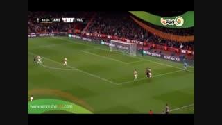 خلاصه بازی آرسنال 3 - والنسیا 1 (13-2-1398)