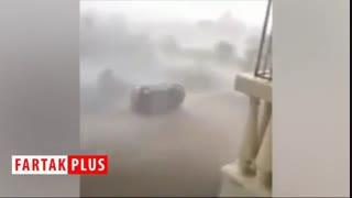 """تصاویری دلهرهآور از طوفان """"فانی"""" هند که شهر را به نابودی کشاند"""