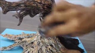 آموزش ساخت مجسمه درخت مرده