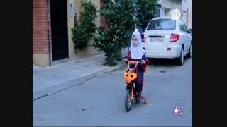 دختر دوچرخه سوار مدرسه طاهره