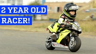 موتورسوار دوساله در عرصهی رقابت!