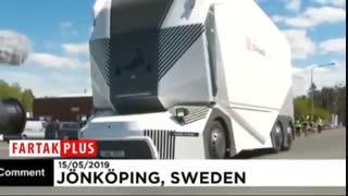 عجیب ترین نوع کامیون برقی در سوئد آزمایش شد