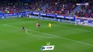 گل دوم بارسلونا به ایبار توسط مسی