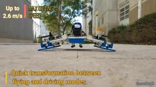 رباتی با قابلیتهای پهپاد و خودرو