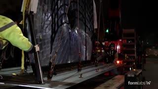 پرینتر سه بعدی و قلب ولنتاین در میدان تایمز (بزرگترین لنز جهان)