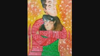 نقاشی من از عشق پدر و مادر#^_^#
