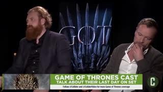 صحبت های بازیگران سریال بازی تاج و تخت درباره ی روز آخر فیلمبرداری