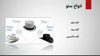 فیلم آموزش سئو : انواع سئو و بهینه سازی سایت (کلاه سفید و سیاه و خاکستری/داخلی و خارجی)