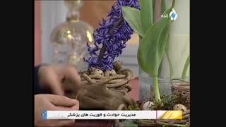 روش تزئین گل لاله و گل سنبل