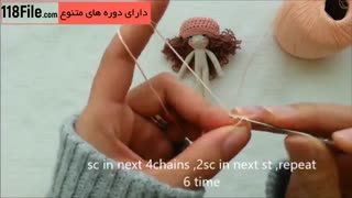 5 روش بافت لباس عروسک دخترانه